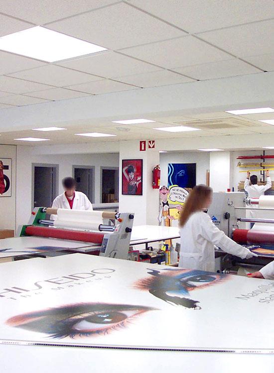 Taller de montaje de Nortecolor en Madrid
